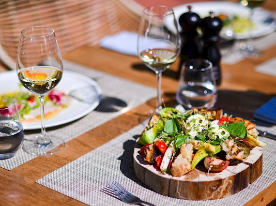 Taverna scents and greek salad